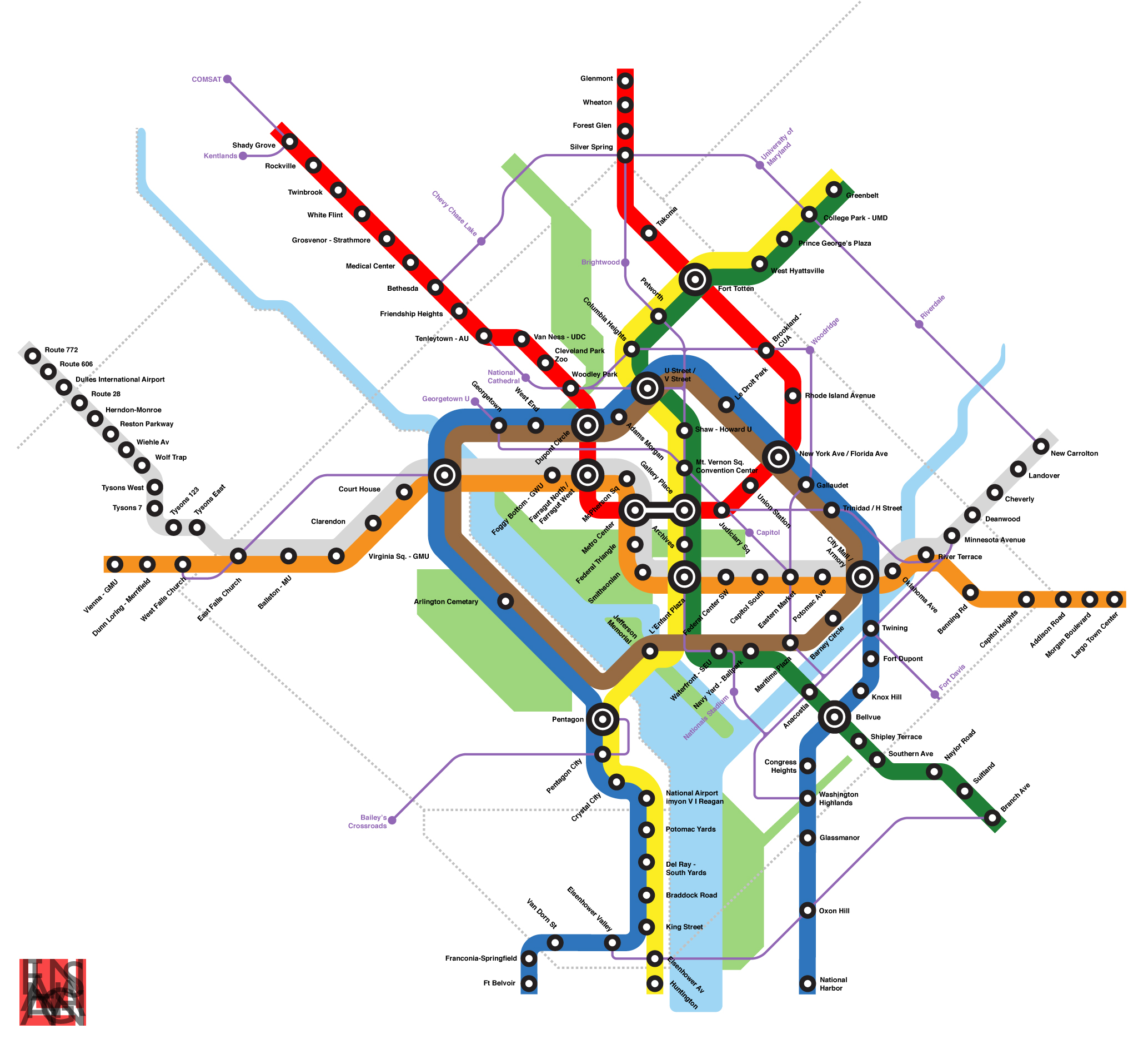A Metrorail Year Plan - Washington dc metro map national harbor