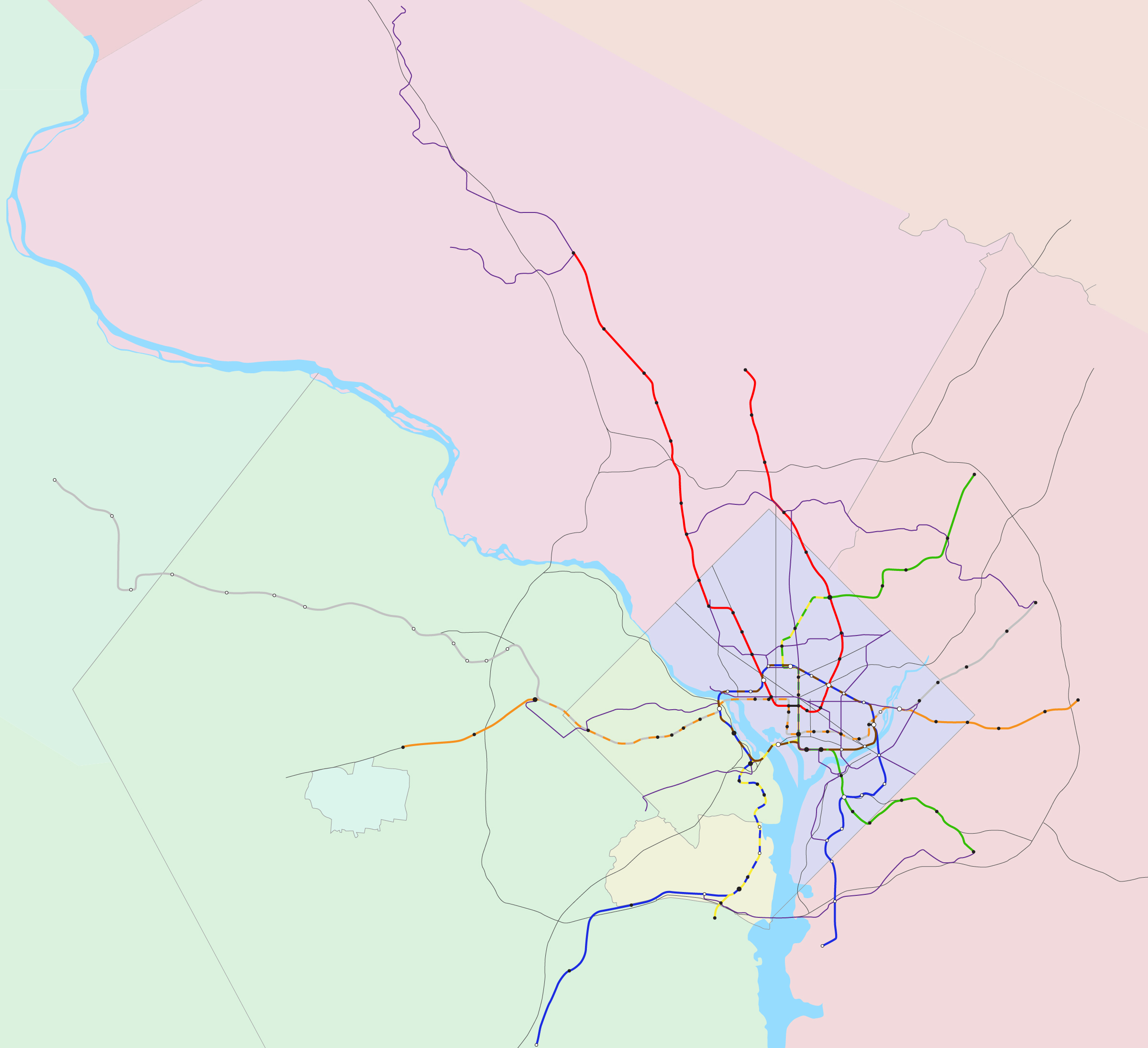 A Metrorail Year Plan - Washington dc silver line map