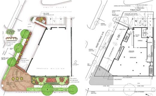 Plantings and floorplan.